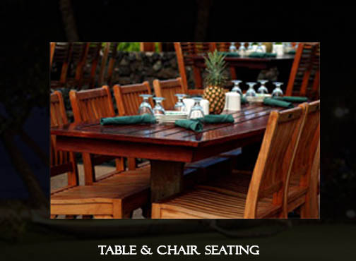 Old Lahaina Luau Table and Chair Seating